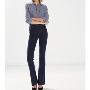 Mother The Hustler Fray Edge high rise flare jeans